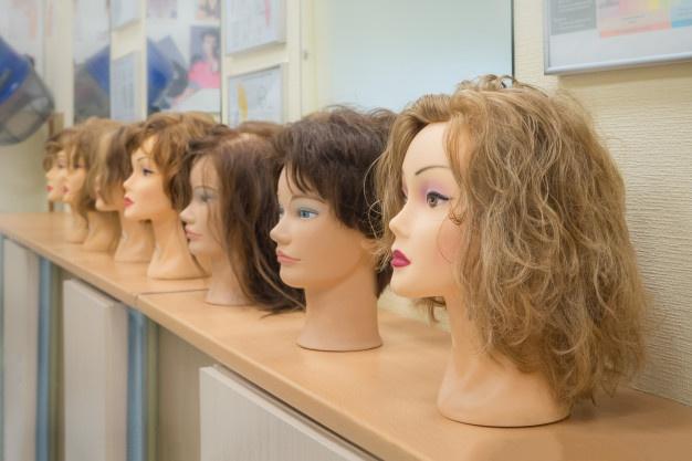 peruca de cabelo natural feminino